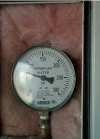 Close up of pressure gauge