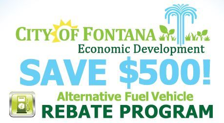 Alternative Fuel Vehicle Rebate Program Information Graphic