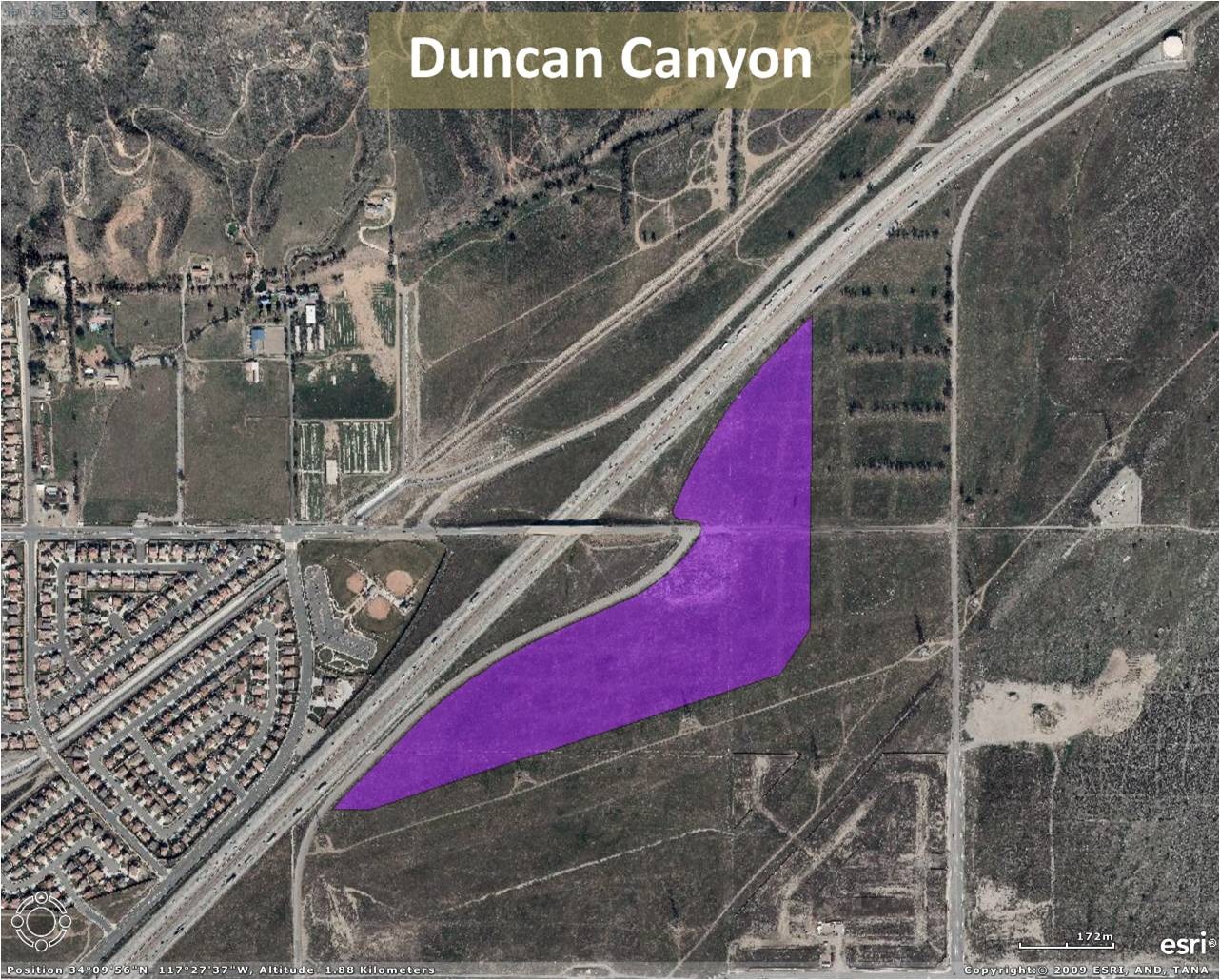 Duncan Canyon Project Map
