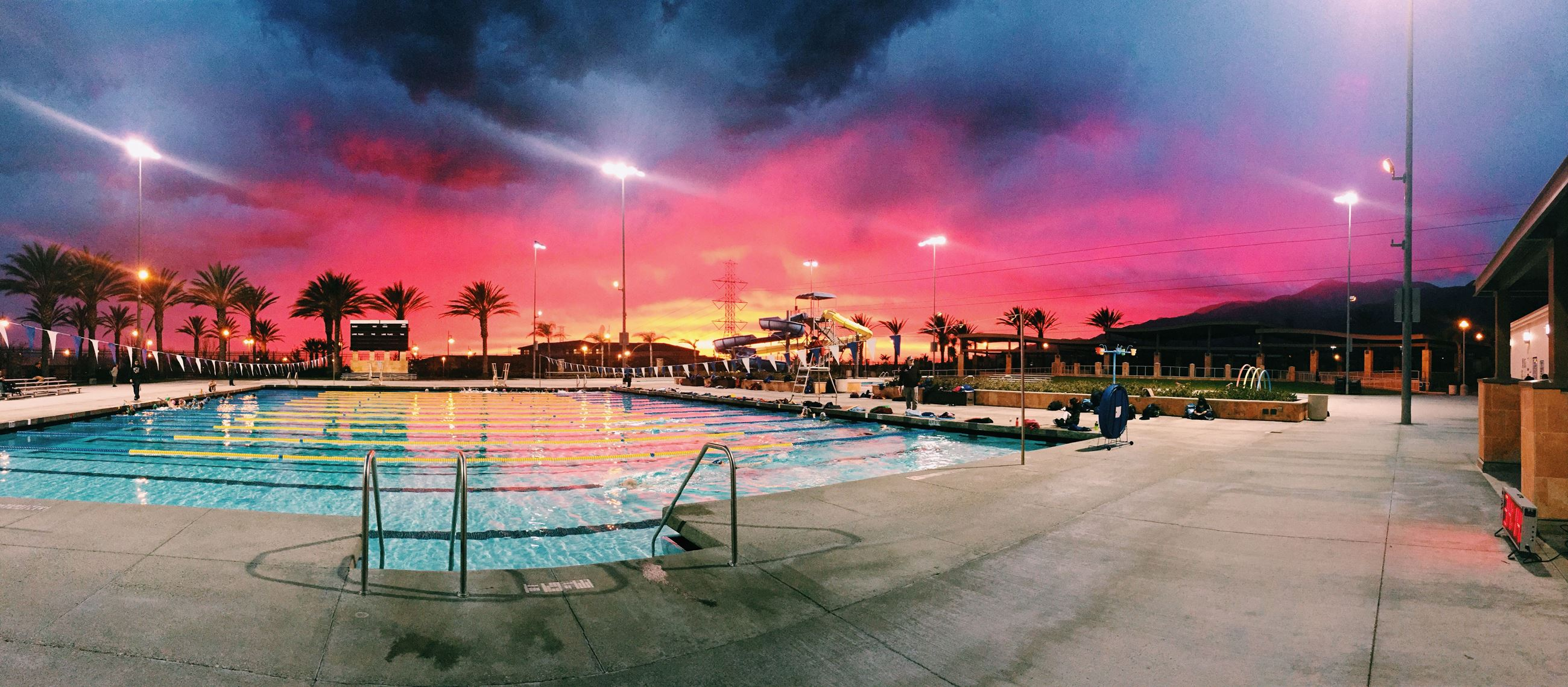 Pool at Sunset