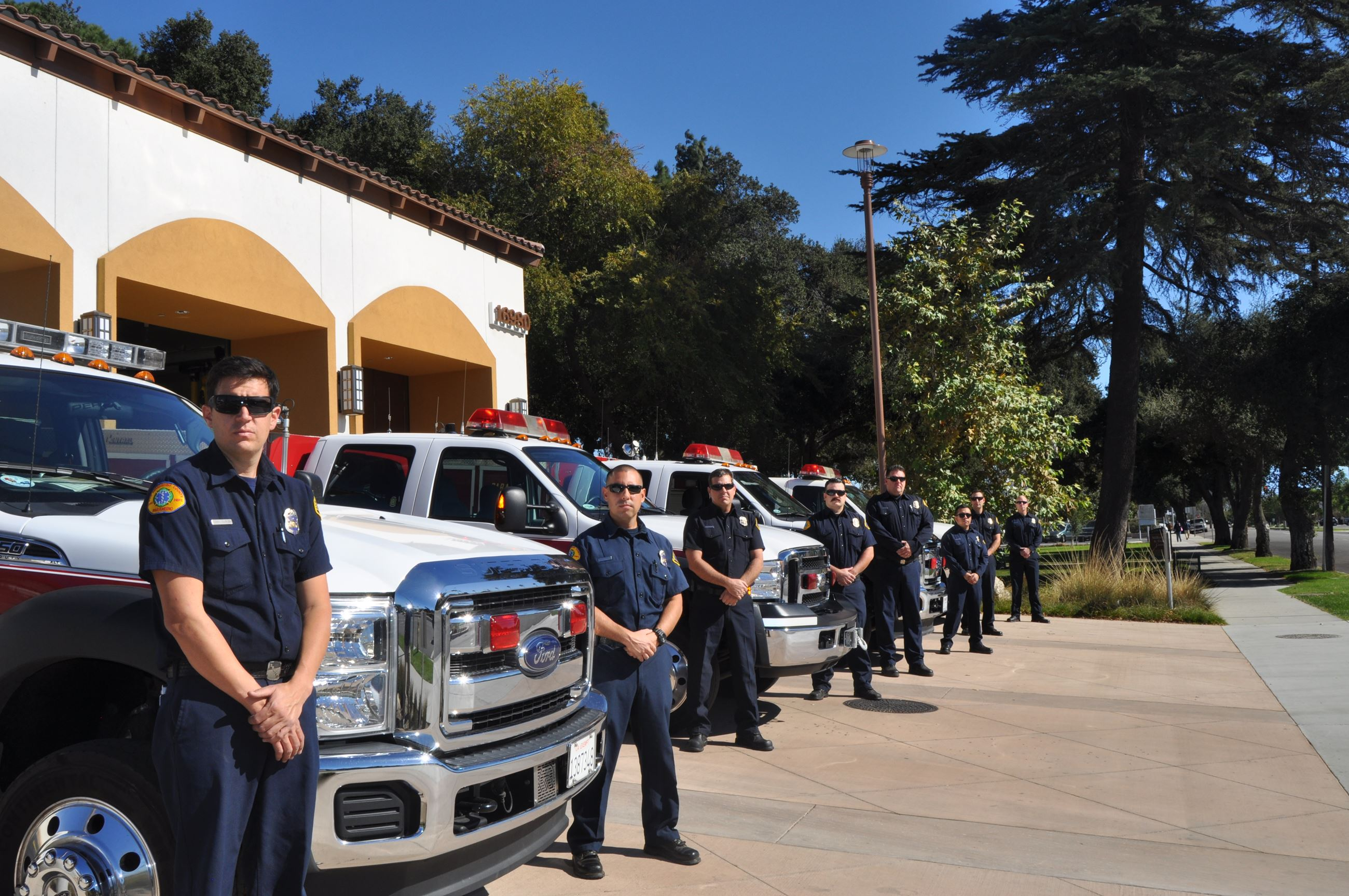 Firemen at Fire Station