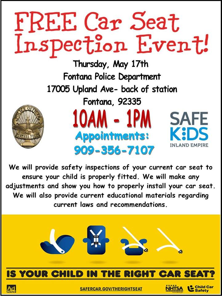 Car Seat Inspection Event 051718