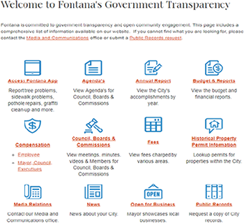Government Transparency Page