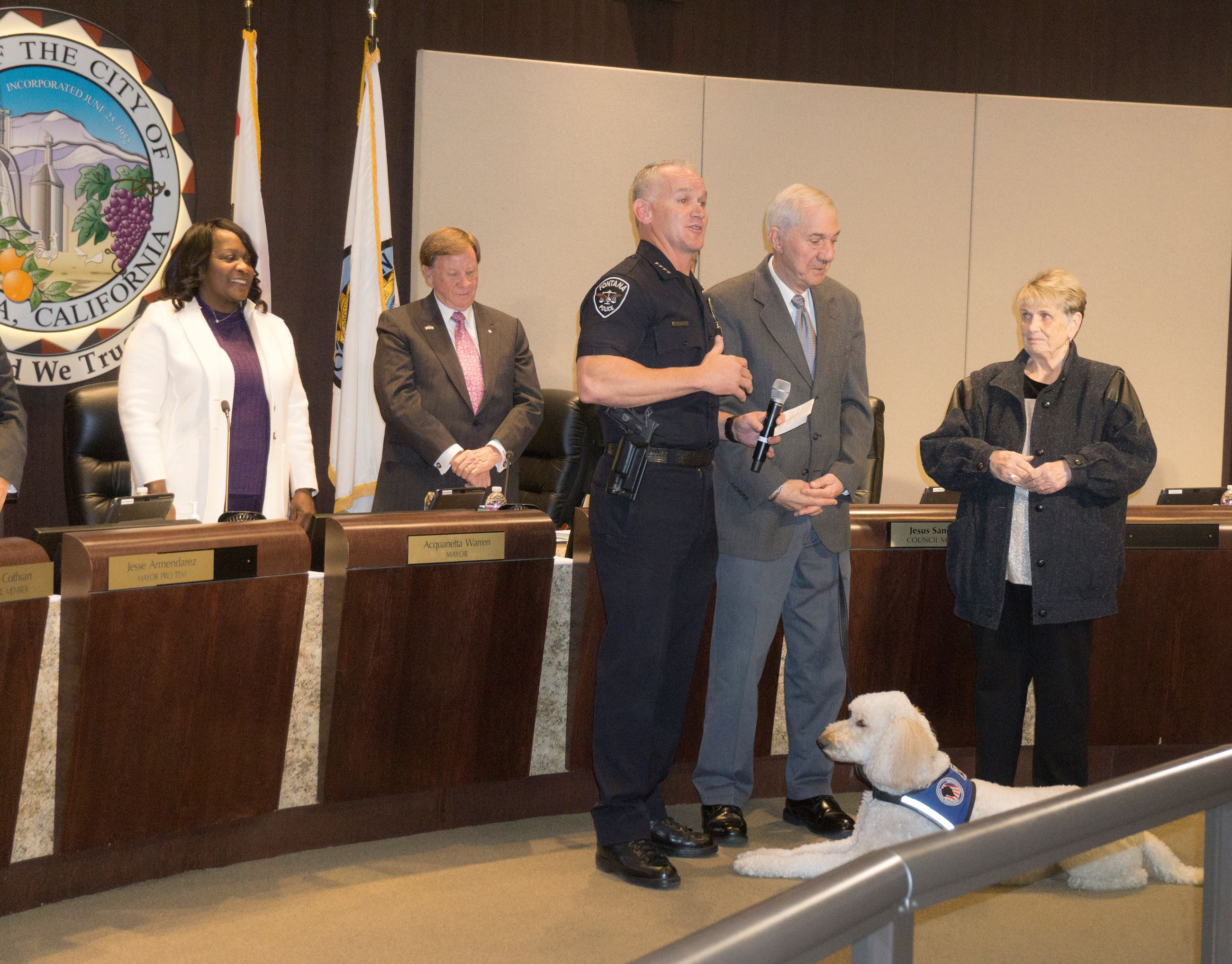 Retirement Recognition for Fontana Police Volunteer Dominic Polimeni