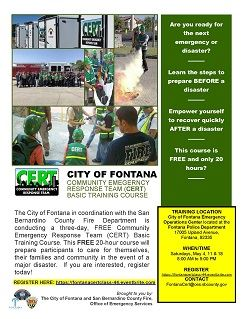 Fontana CERT Basic Training - May 2019