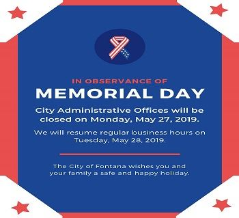 Memorial Day 2019 Closure