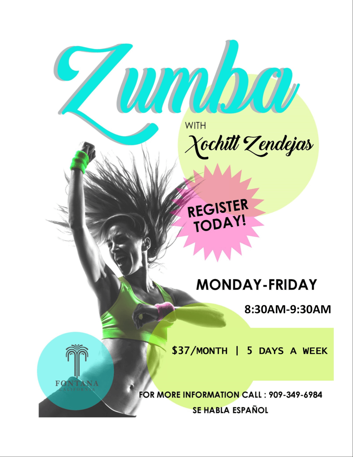 Zumba Monday Through Friday