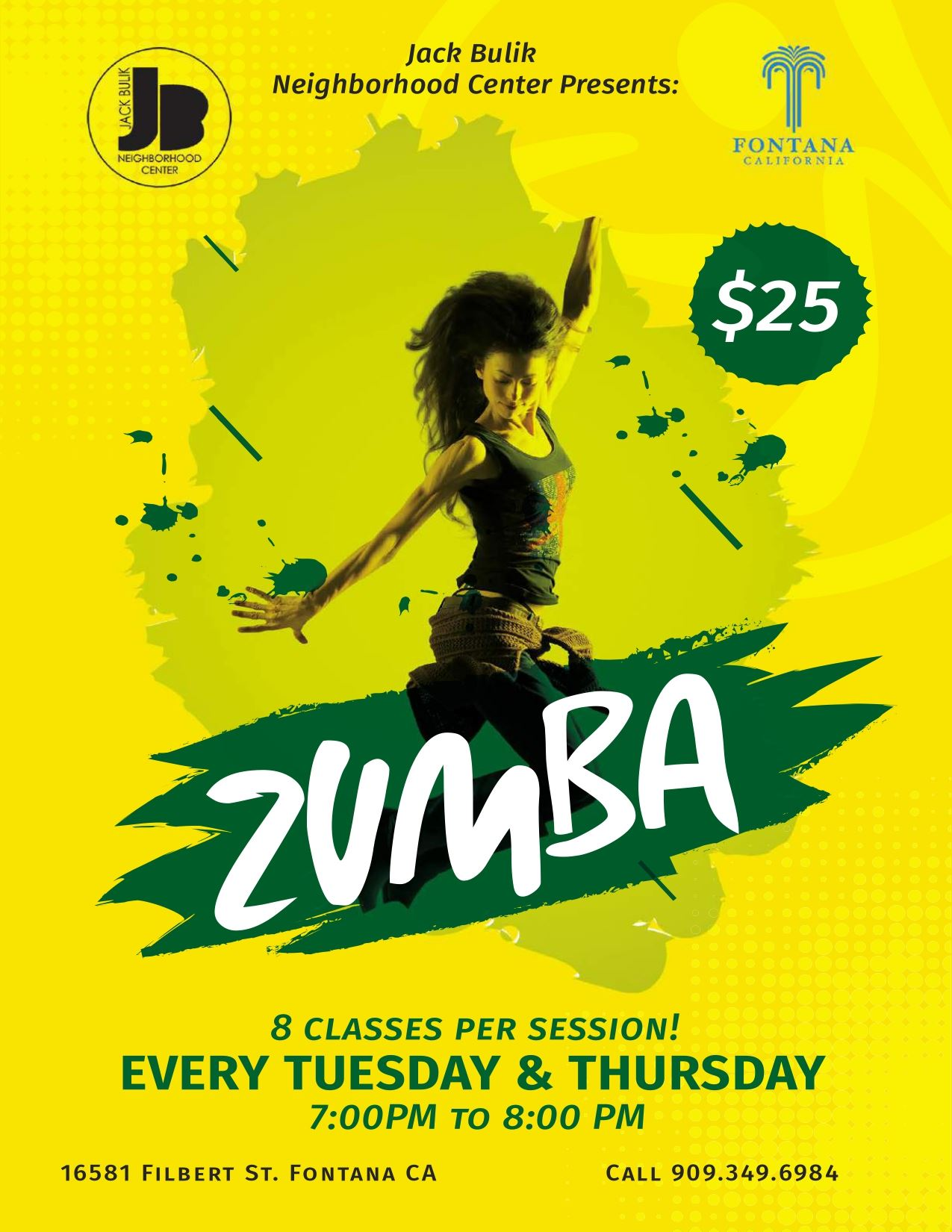 Zumba Tuesday and Thursday