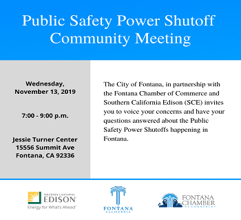 Public Safety Power Shutoff Community Meeting