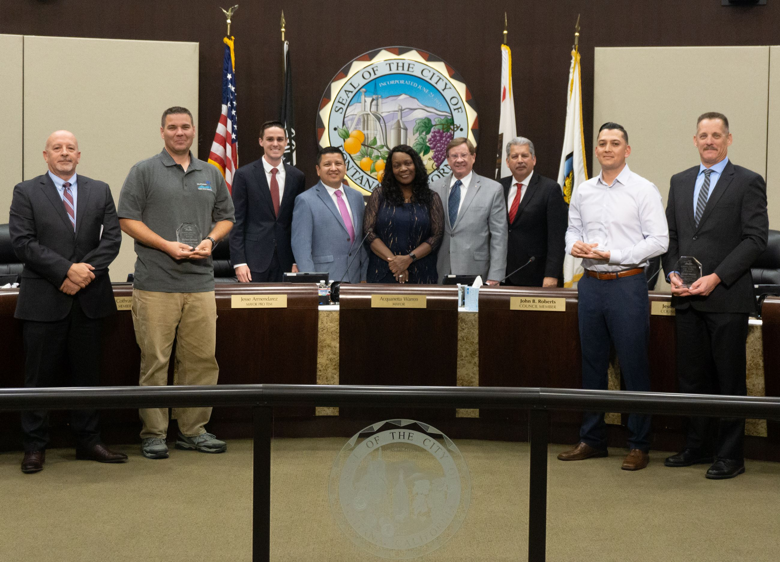 2019 Public Works Department Employees of the Year