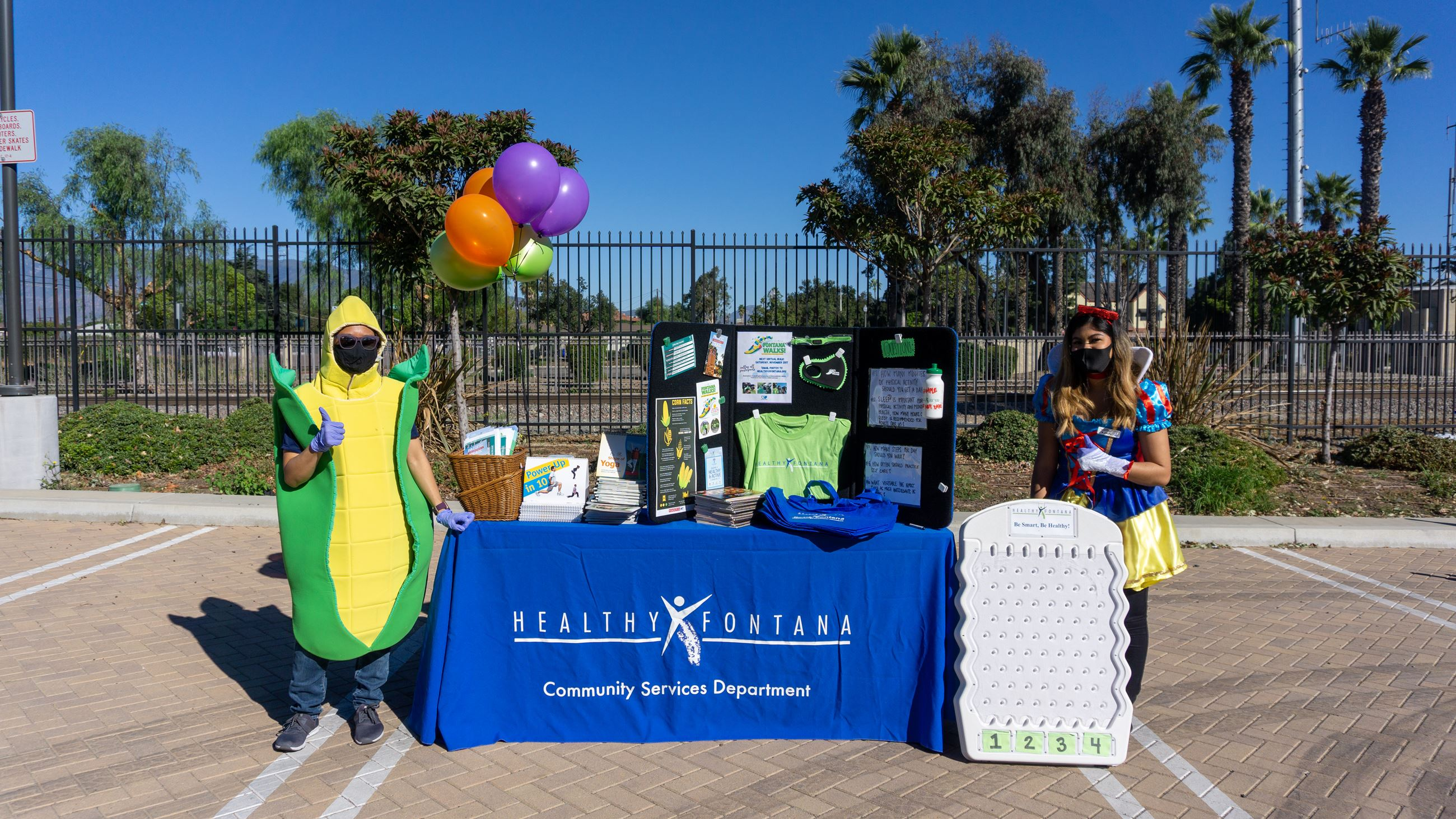 Healthy Fontana promoted healthy living at the Fontana Community Senior Center's Drive Thru Halloween event