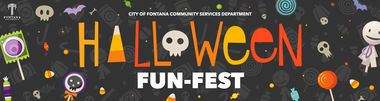 Virtual Halloween web banner graphic design.