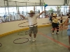 Adults hula hooping