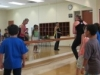 Joan Reed teaching an exercise class