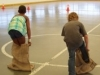 Kids potato sack racing