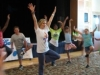 Kids doing yoga positions
