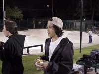 Paul Rodriguez chowing down at the park