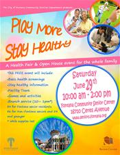 Learn about the Play More, Stay Healthy event