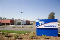U.S. Post Office at corner of Santa Ana and Juniper