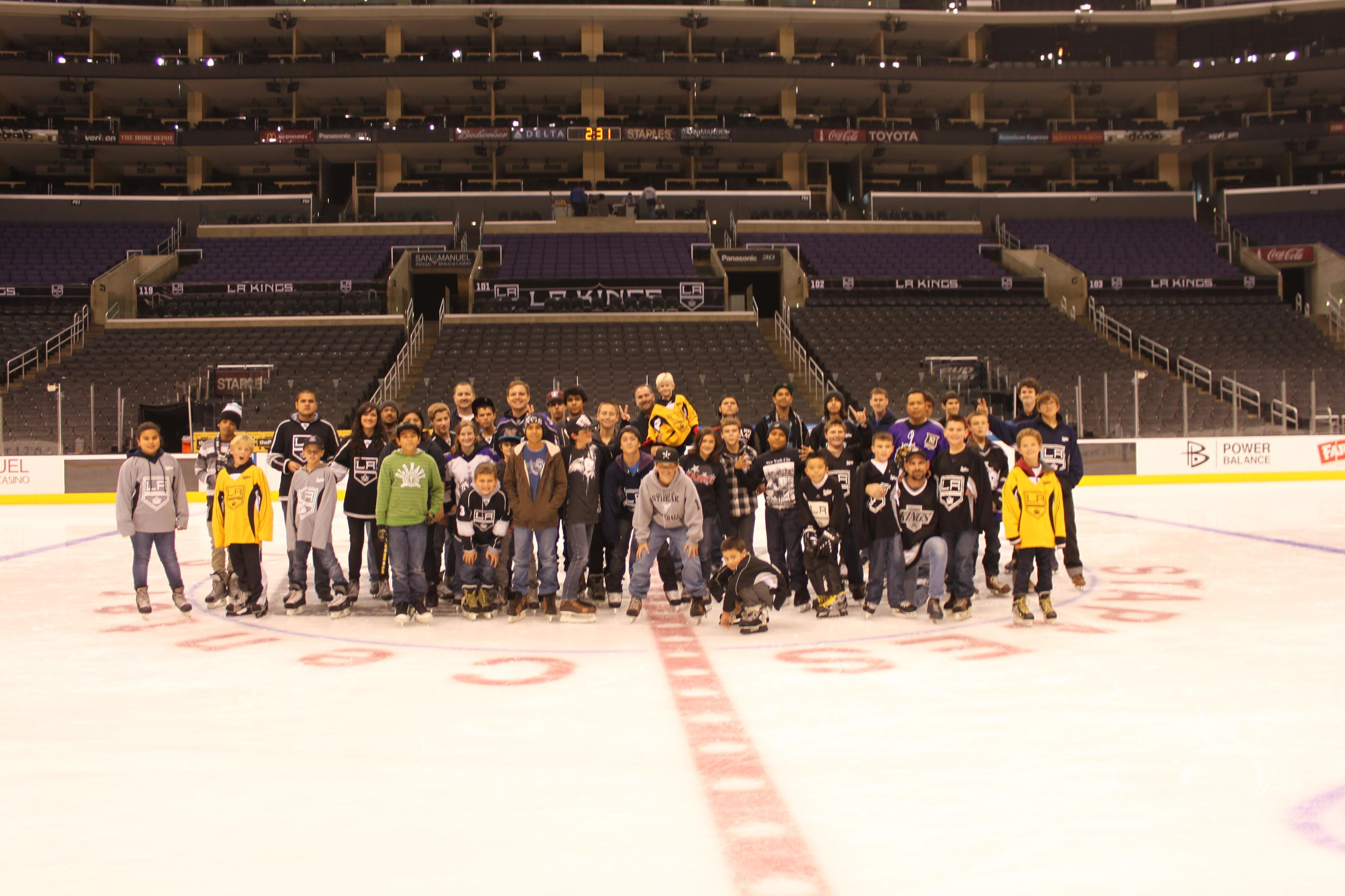 Program Participants at Kings Game